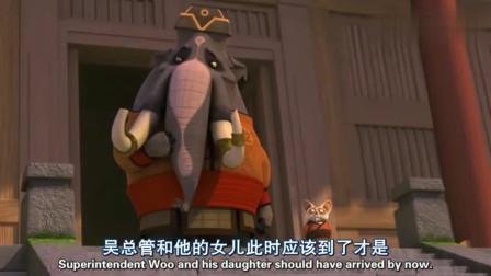 功夫熊猫:金猴又调戏了神龙大侠,阿宝还以为猴子的手没了!