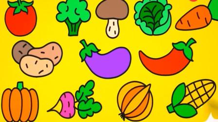 儿童简笔画教程 绘画画画各种蔬菜水果 有没有你喜欢吃的水果蔬菜呢
