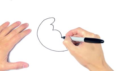 儿童简笔画;如何绘制羊角面包一步一步羊角面包绘图