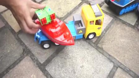 卡通街道汽车躲猫猫玩具游戏