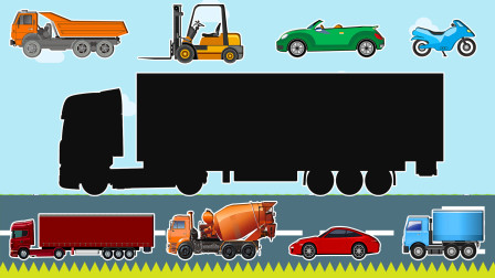 媛媛识交通工具 动动手 帮助小汽车们找到正确的位置