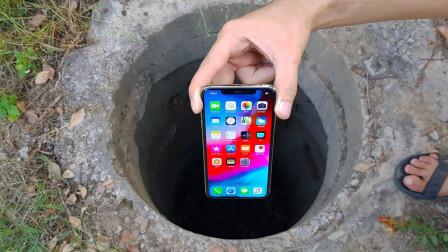 废弃枯井传出一阵怪声,老外拿iPhoneX探测,画面让人难以置信!