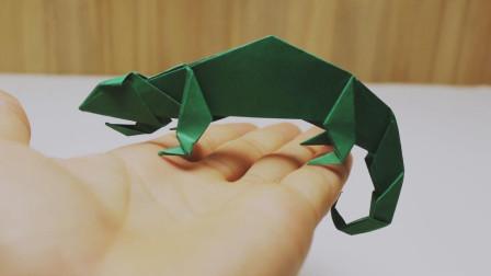 """教你折纸DIY,折纸""""变色龙""""的方法,步骤详细又简单"""