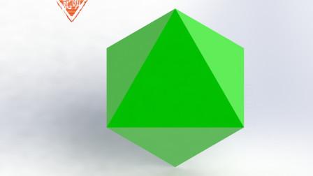 亦明3D:SolidWorks建模,正八面体,用拉伸凸台拔模角度如何确定