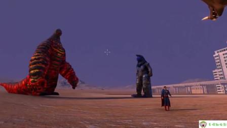史诗模拟:EX熔岩雷德王联手哥莫拉和闪电哥尔赞,挑战美国超人