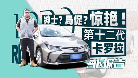 """萝卜报告 2019 动力很""""绅士"""" 底盘很惊艳 体验第十二代卡罗拉"""