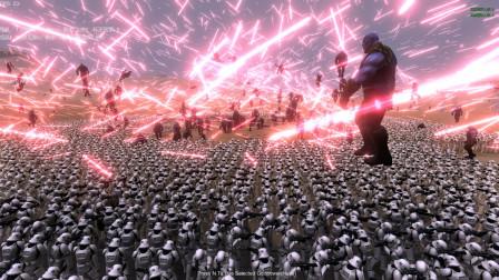 战争模拟器 5000帝国士兵围堵灭霸 灭霸被打得到处飞