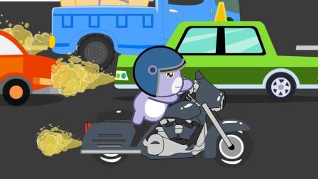 嘟拉安全宝典 轰隆隆 炫酷摩托车登场,体验摩托车安全要注意!