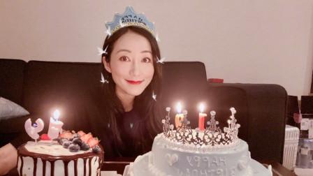 """有种""""炫富""""叫韩雪过生日,别人都是一个蛋糕,她却与众不同"""