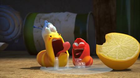 爆笑虫子:黄虫心急吃柠檬,酸得口水直流
