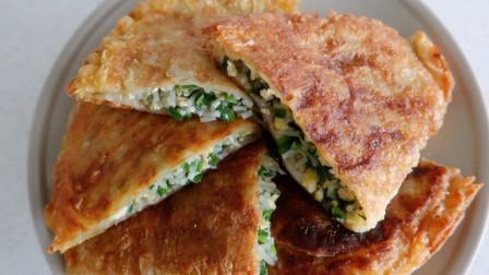 1把韭菜,4个鸡蛋,教你快手早餐饼的做法,5分钟搞定全家人早餐!