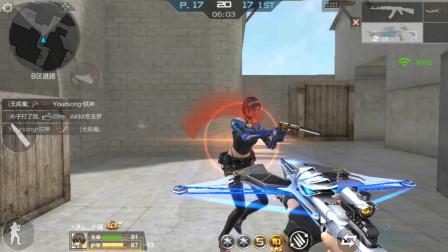 CF穿越火线:最强副武器-天使猎弩,两枪秒一个,伤害真高!