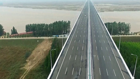 河南官渡黄河大桥正式通车!双向8车道通行 项目总投资逾39亿