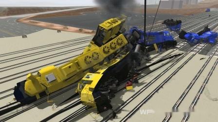 Beamng模拟火车汽车卡车碰撞