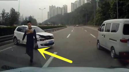 白色轿车多次故意别车,后车可没惯着他,记录仪拍下这样一幕