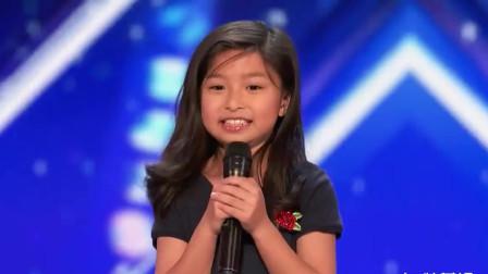 9岁小女孩美国达人秀演唱《我心永恒》,连飙高音,惊呆评委!