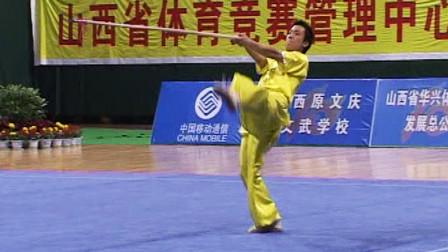 2005年第十届全运会男子武术套路预赛 男子枪术 015 王梓(上海)