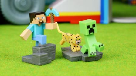 我的世界场景宝盒得到被豹子追的苦力怕