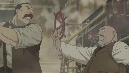 蒸汽男孩:大叔不顾阻拦一锤打坏机械引擎,最终引发了机械