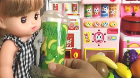 冰淇淋机器制作,芭比娃娃的童趣玩具乐园