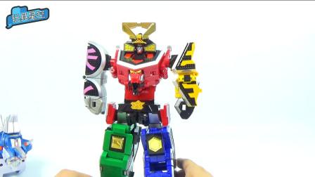 机器人炫酷玩具变形金刚组装玩法趣味视频