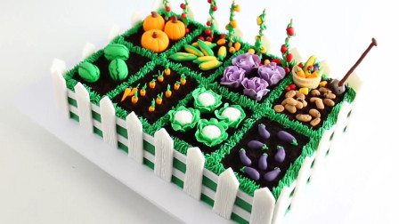 教你做一个栩栩如生的蛋糕,能长出各种蔬菜水果,孩子们超爱吃