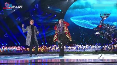 邓超、张惠妹同台合唱《听海》,邓超刚一开口,张惠妹惊讶了!