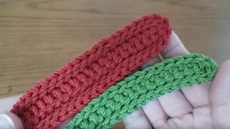 非常喜欢的一款包带样式,锁边式包带教程,做成腰带也很漂亮
