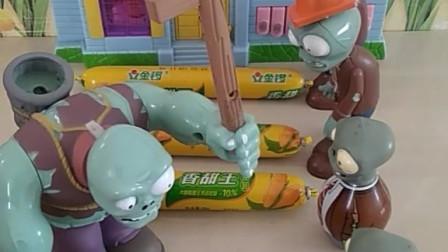宝宝喜欢玩玩具:小僵尸把玉米火腿肠给了老大