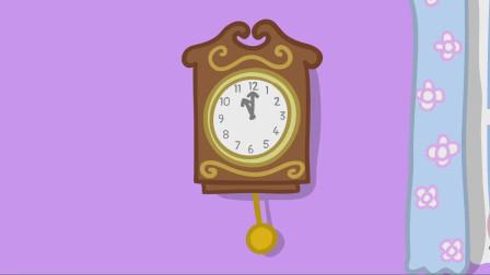 儿童简笔画:时钟正在一刻不停地运转