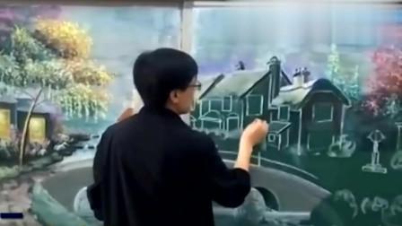老外看中国:外国网友评论中国老师黑板上画画:中国从不缺人才!