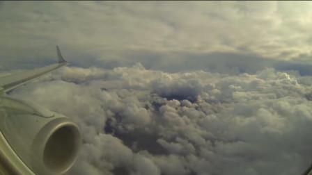 """男子在飞机上偷拍,发现云层上有""""人"""",专家:违反科学!"""