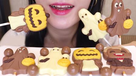 幽灵等造型巧克力,节日气氛十足,创意和味道都满分!