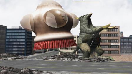 奥特曼格斗进化3隐藏人物圆盘生物VS贝蒙斯坦