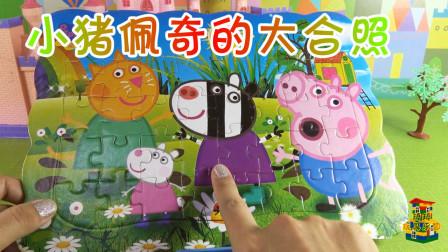 琦琦玩具乐园 2D拼图玩具,小猪佩奇和小伙伴们的大合照