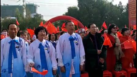 视频录像 萱子;通辽市老年活动中心老年大学成立20周年千人高歌我和我的祖国