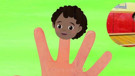 手指家庭-运动椰子壳童谣和儿童歌曲