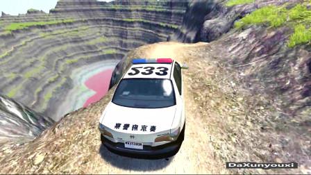 车祸模拟器:警车会比普通轿车好吗?拿来测试下就知道了