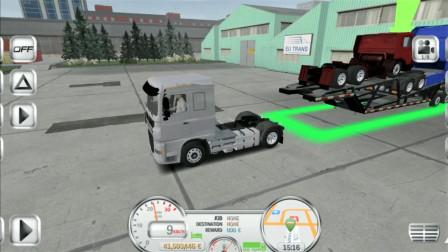 旋转轮胎手游版,司机开拖车运输卡车