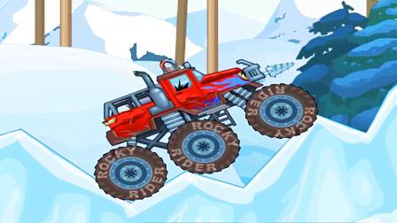 疯狂吉普车:大脚车雪地模式真心难游戏