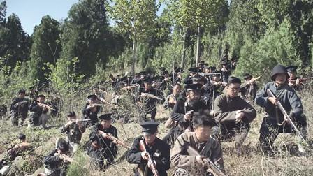 八路军和国军围攻县城,汉奸向鬼子救援,没想被鬼子耍了