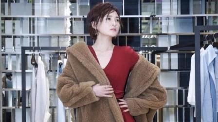 蒋勤勤44岁又怎样,摩卡波波头搭配红色连衣裙,减龄又高级感