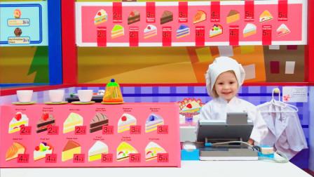可爱萌娃:宝妈去糕点店购买蛋糕,没想到前台收银的居然是自己的女儿