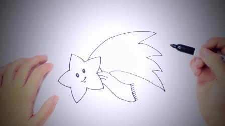 儿童简笔画:如何一步一步地绘制圣诞节之星 简笔画教学视频