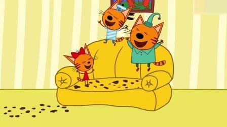 咪好一家:爸爸妈妈要出门办事,他们请来马芬伯伯照顾小猫咪们!