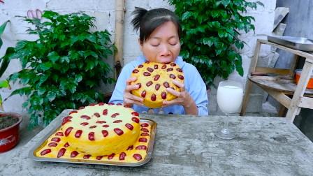 小米别只会煮粥了,加2斤红薯,不用烤箱,比蛋糕简单,太好吃了