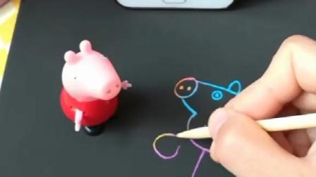 佩奇开始学画画了,画了一个自画像,是送给喜欢她的人的