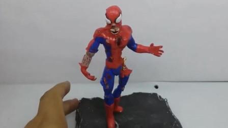 设计师用粘土捏了一个中了丧尸病毒的蜘蛛侠,步骤简单易学