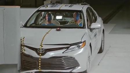 慢镜头下看丰田凯美瑞碰撞测试,你就知道质量怎么样了!