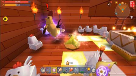 迷你世界生存:战斗鸡的刷怪塔失败